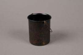 A101A9 Bronze zinc Bucket D8.5cm H9.5cm