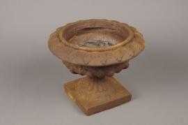 A048XY Brown fiber medici bowl D28cm H21cm