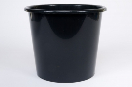 Bucket plastic 5L black D21 H20cm