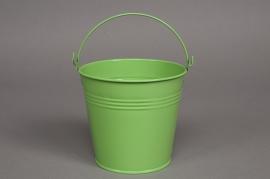Bucket zinc almond green D8 H7cm