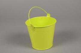 MU13WV Bucket zinc green D10cm H9.5cm