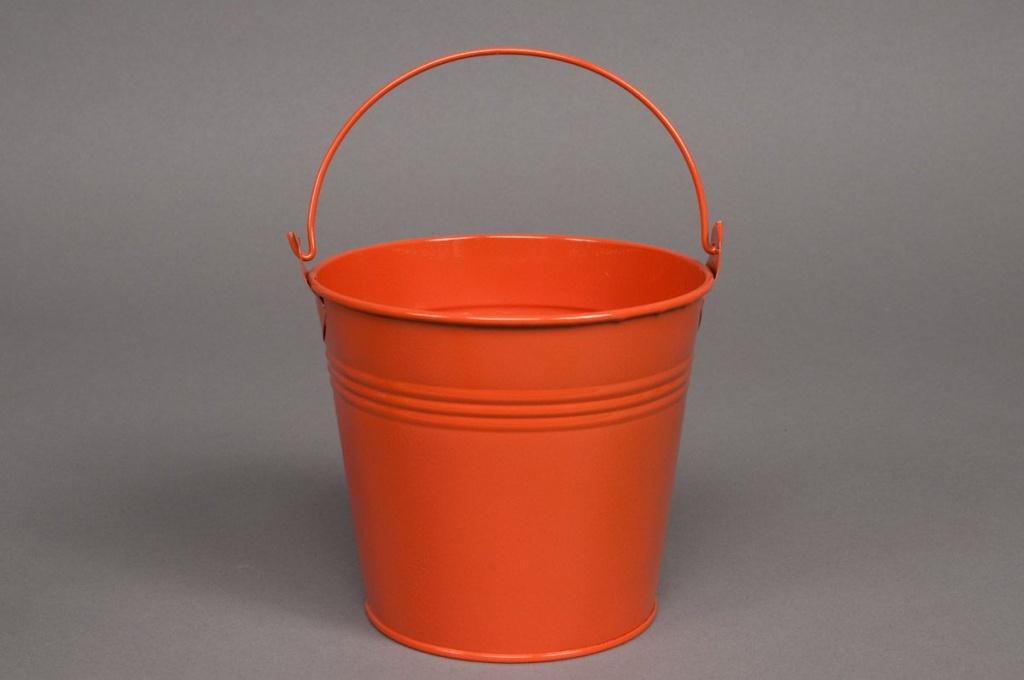 A037KM Bucket zinc orange D11 H10cm
