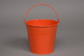 A038KM Bucket zinc orange D13cm H12cm