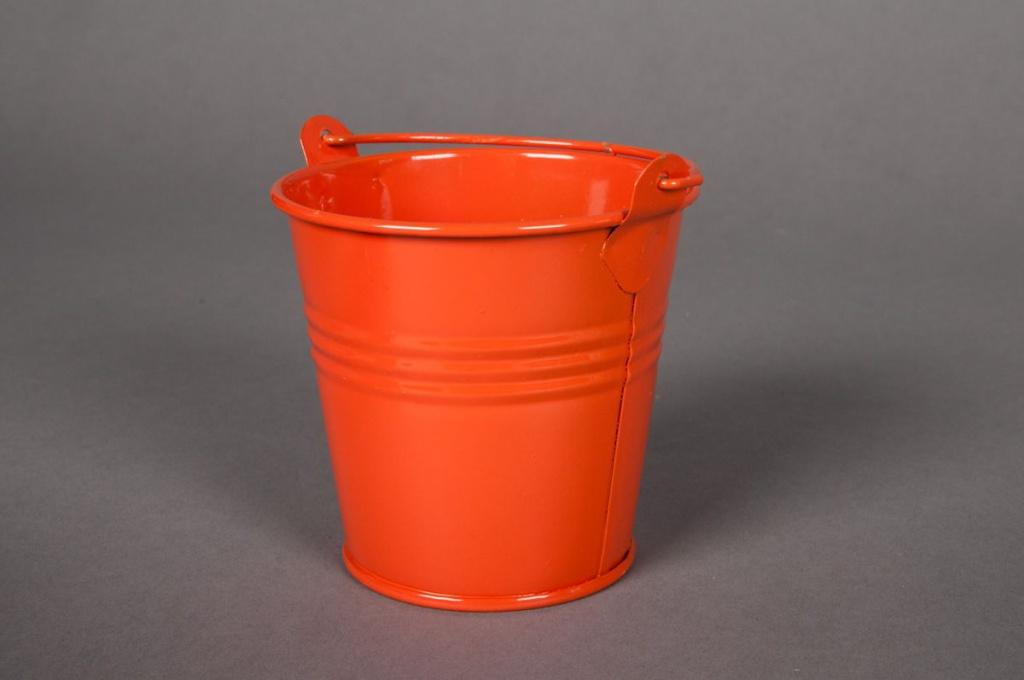 A036KM Bucket zinc orange D8cm H7cm