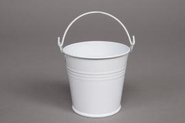 A005KM Bucket zinc white D6cm H5cm