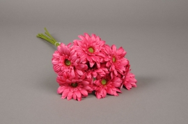 x769nn Bunch of 7 artificial fuchsia gerbera H48cm