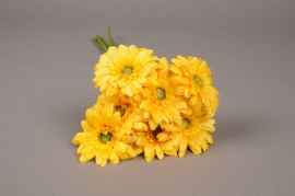 x767nn Bunch of 7 artificial yellow gerbera H48cm