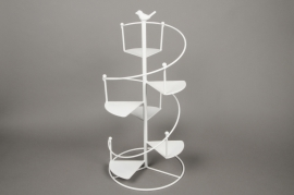 C151DQ White spiral metal stand D28cm H59cm