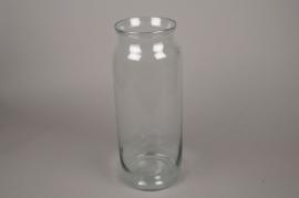 C292DQ Vase bocal en verre D17.5cm H45cm