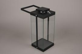 C311DQ Lanterne en métal noir 15x15cm H34cm