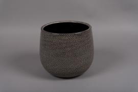 C316DQ Cache-pot en céramique gris D21.5cm H21cm