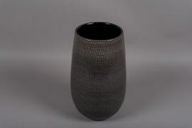 C320DQ Vase en céramique gris D20cm H35.5cm