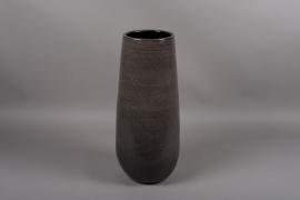 C321DQ Vase en céramique gris D24cm H59cm