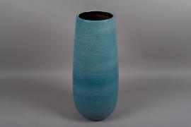 C323DQ Vase en céramique bleu D24cm H59cm