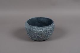 C331DQ Blue grey terracotta bowl D22cm H13cm