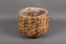 C346DQ Planter in natural water H29cm