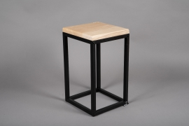 C398DQ Wooden and metal stand 24.5cm x 24.5cm H43cm