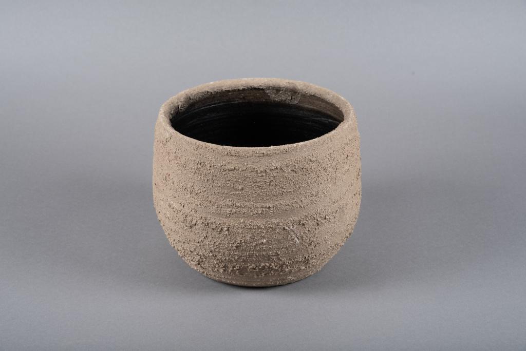 C417DQ Cache-pot en terre cuite taupe D23cm H19cm