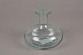 C469DQ Vase bouteille en verre D13cm H11cm