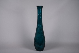 C471DQ Green ribbed glass vase D26cm H99cm