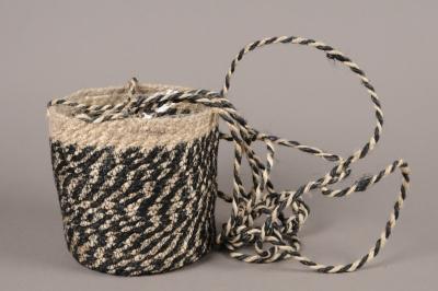 C479DQ Cache-pot en fibres à suspendre noir D16cm H16cm