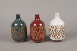 C486DQ Assorted ceramic bud vase D10cm H17cm