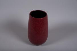 C497DQ Vase céramique rose D20cm H36cm