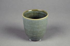 C500DQ Green ceramic planter D8cm H9cm