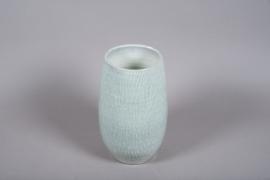 C508DQ Vase en céramique bleu D20.5cm H34.5cm