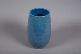 C514DQ Vase céramique bleu D20cm H36cm