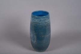 C516DQ Vase céramique bleu D24cm H48cm