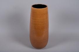 C526DQ vase céramique ocre D24cm H60cm