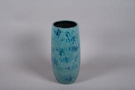 C531DQ Vase céramique bleu D22cm H50cm
