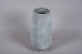C543DQ Vase en céramique gris D24cm H46cm