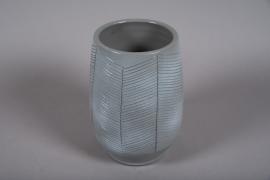 C544DQ Vase en céramique gris D19cm H29.5cm