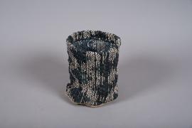 C548DQ Cache-pots panier en tissu D20cm H21cm