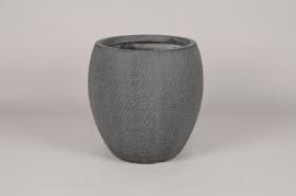 C557DQ Pot en béton gris anthracite D33cm H33cm