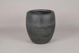 C563DQ Pot en béton gris anthracite D33cm H34cm