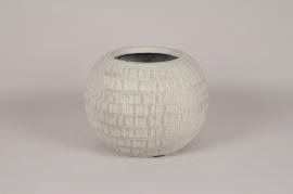 C610DQ Pot boule en béton gris D36cm H28cm