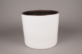 A163QS Ceramic planter white D27cm H26cm