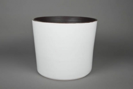 A158QS Ceramic planter white D31cm H29cm