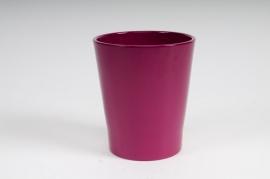 Planter ceramic Orchid fuchsia pink D14 H15cm