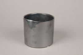 B348WV Cache-pot en céramique anthracite D14.5cm H12.5cm