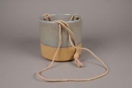 C246DQ Cache-pot en céramique bicolore D20cm H18.5cm