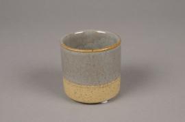 C233DQ Cache-pot en céramique bicolore D7.5cm H7.5cm