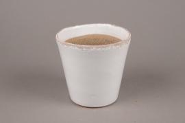 A254HX White ceramic planter D13cm H13cm