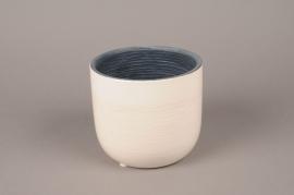 A467QB Cache-pot en céramique blanc D14.5cm H13cm