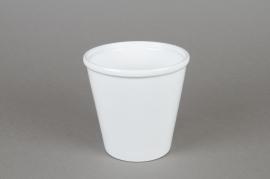 Cache-pot en céramique blanc D14cm H14cm