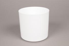 A025DO Cache-pot en céramique blanc D18cm H17cm