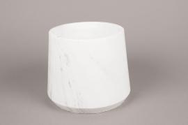 A250HX Cache-pot en céramique blanc D21cm H17.5cm